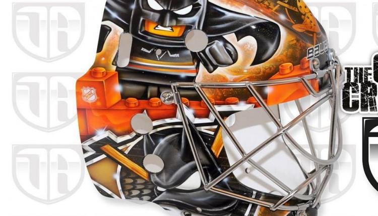Frederik Andersen 2015-16 Lego Batman Goal Mask