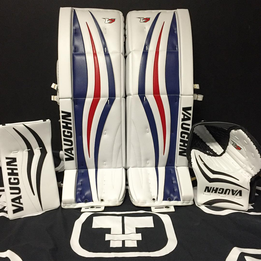 vaughn velocity v7 goal pads goalie gear nation