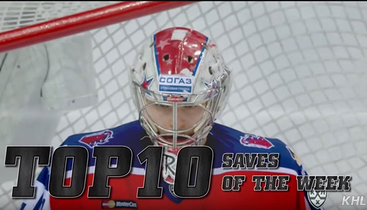 Top 10 KHL Saves from Week 7 and 8