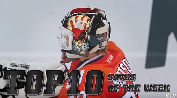 Top 10 KHL Saves - Week 9
